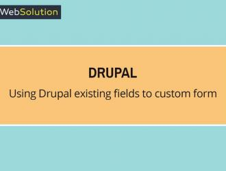 drupal existing fields to custom form