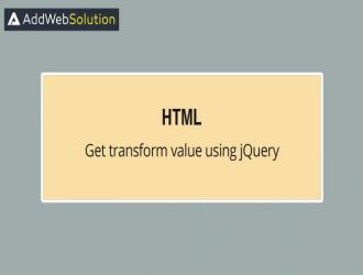 Get Value Of Transform Property Using JQuery